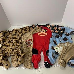 Carter's Pajamas - Carter's Lot of 5 Boy Newborn Sleeper Pajama sets